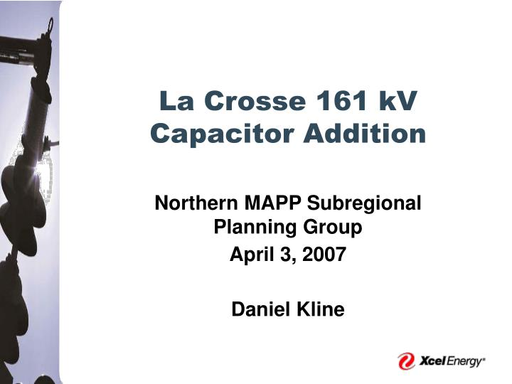 La crosse 161 kv capacitor addition