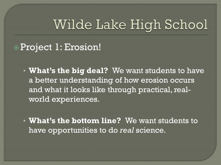 Wilde Lake High School