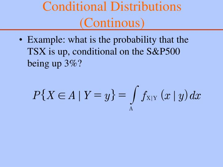 Conditional Distributions (Continous)