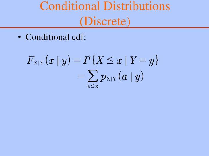 Conditional Distributions (Discrete)
