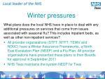 winter pressures