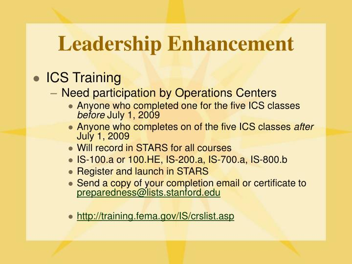 Leadership Enhancement