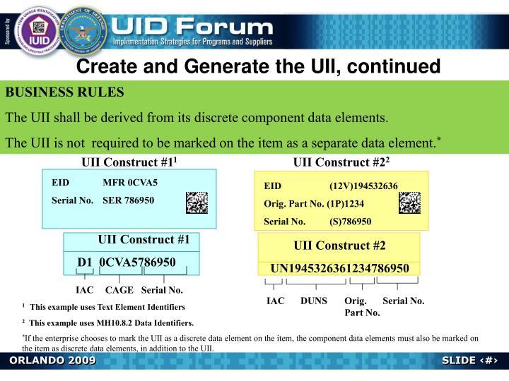 UII Construct #2
