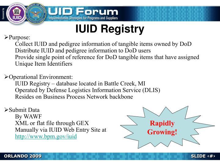 IUID Registry