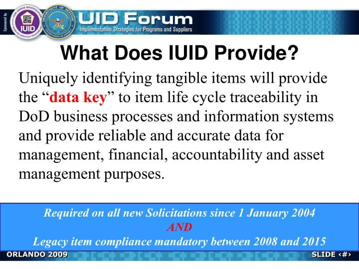 What Does IUID Provide?
