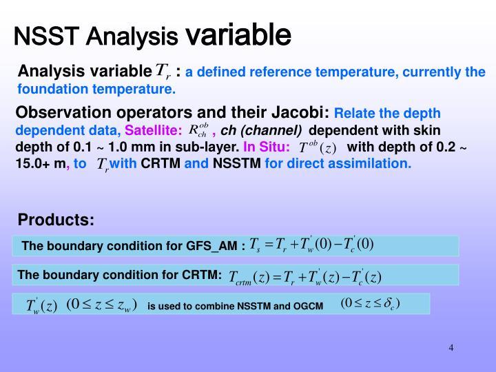 NSST Analysis
