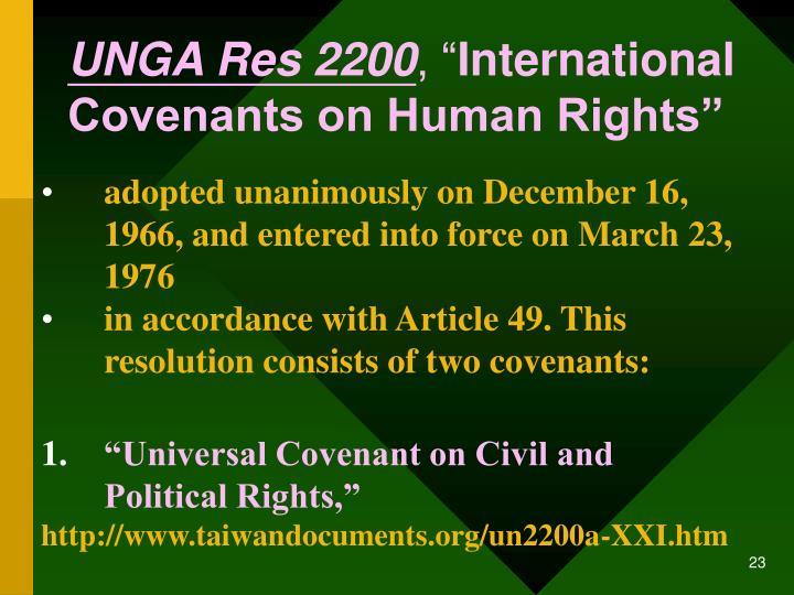UNGA Res 2200