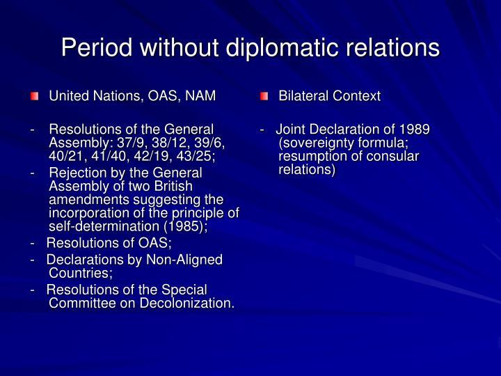 United Nations, OAS, NAM