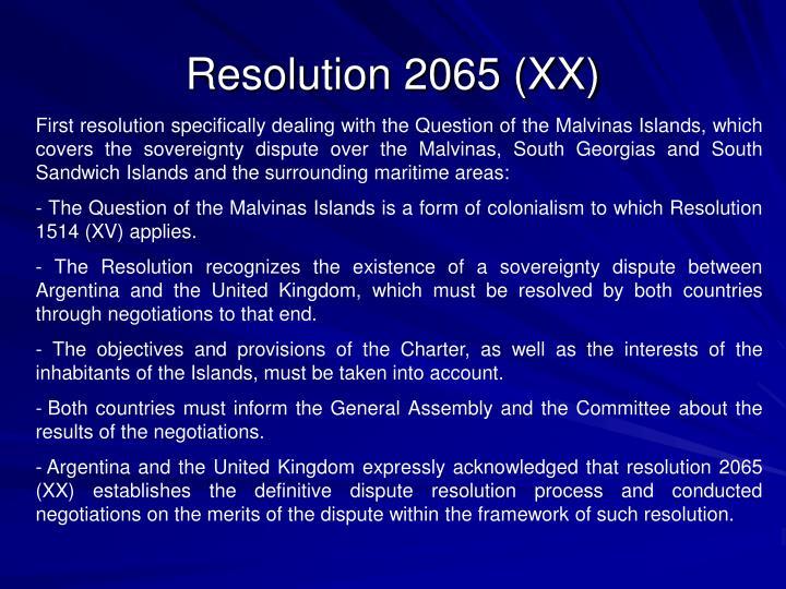 Resolution 2065 (XX