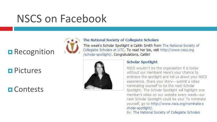 NSCS on Facebook