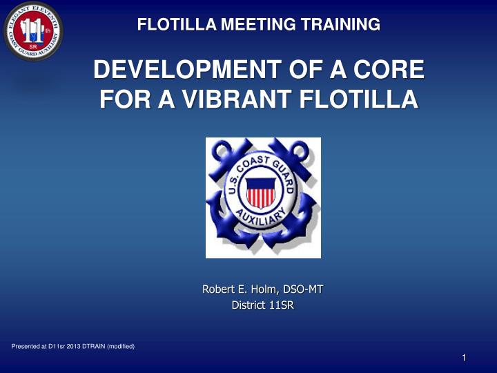 FLOTILLA MEETING TRAINING