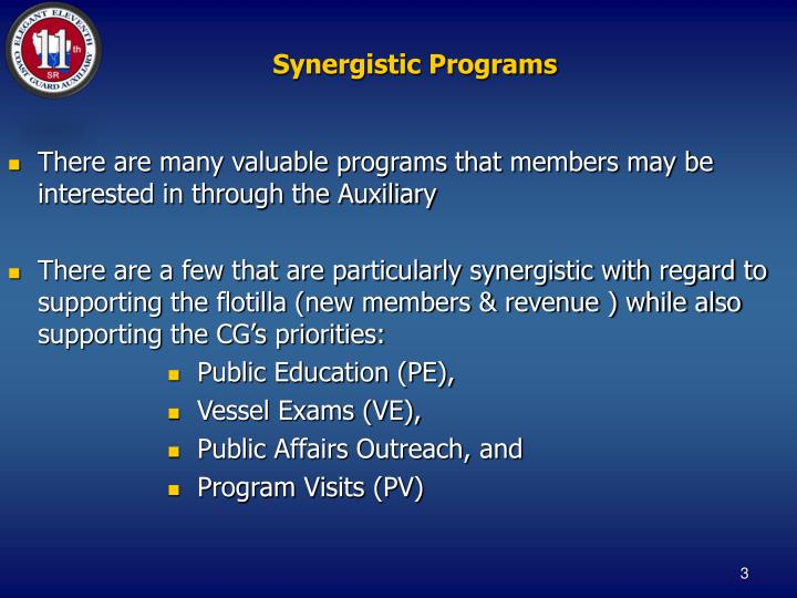 Synergistic Programs