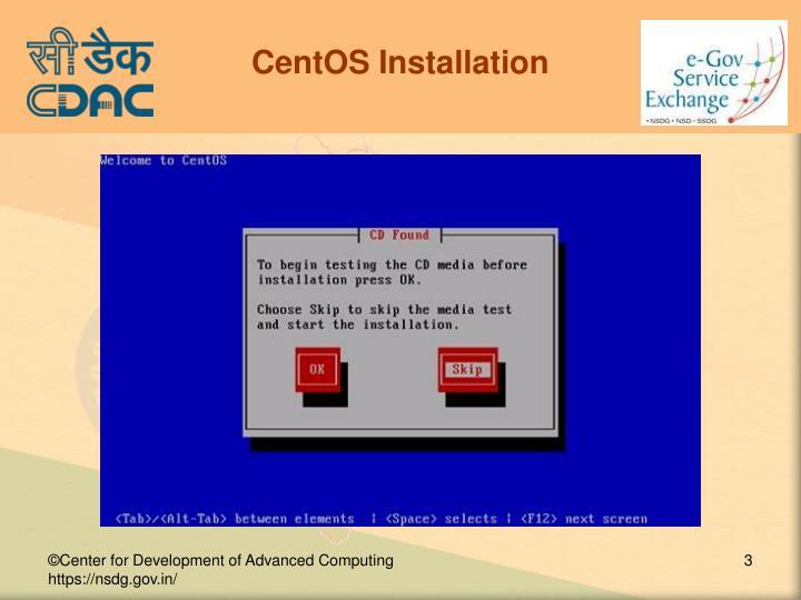 CentOS Installation