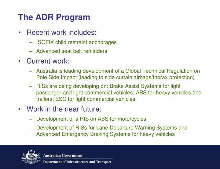 The ADR Program