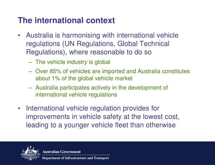 The international context