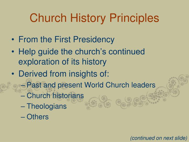 Church History Principles