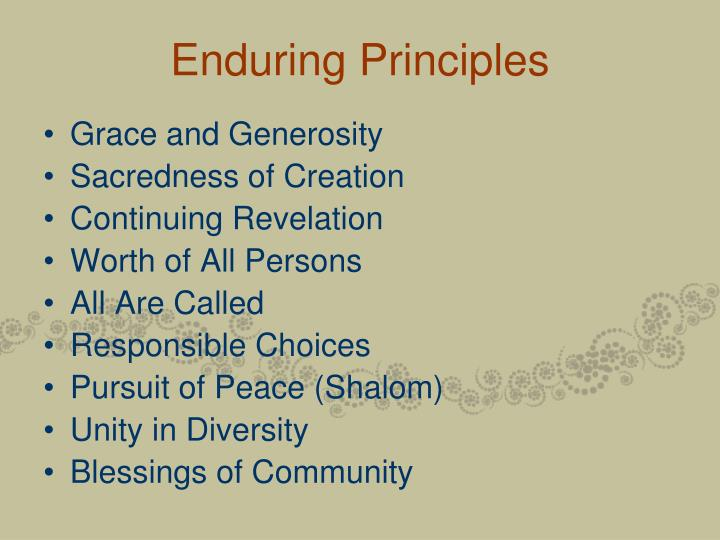 Enduring Principles