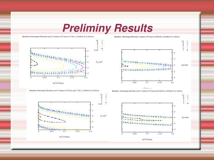 Preliminy Results