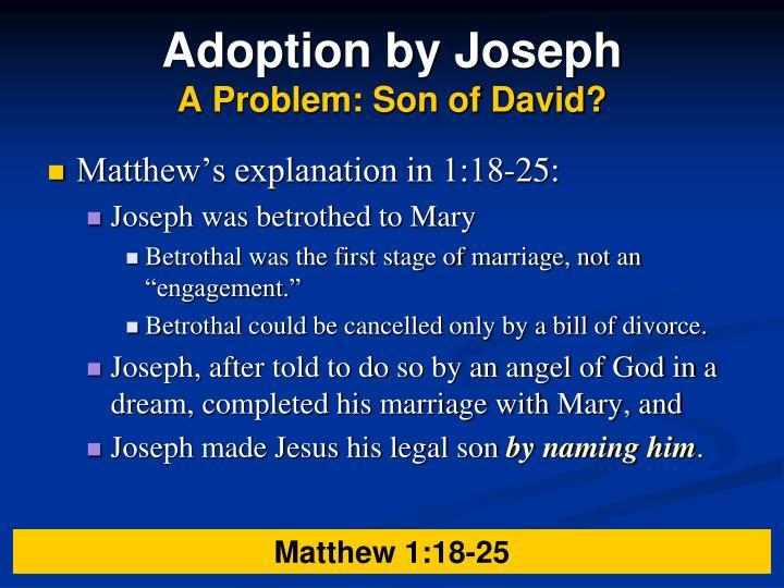 Adoption by Joseph