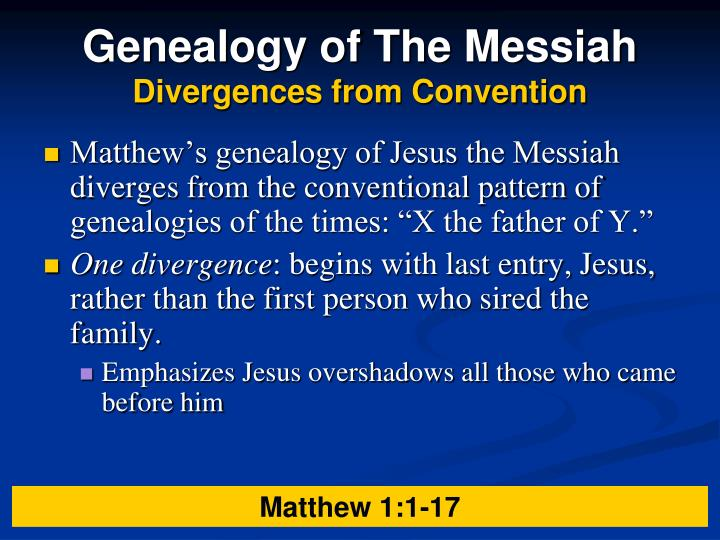 Genealogy of The Messiah