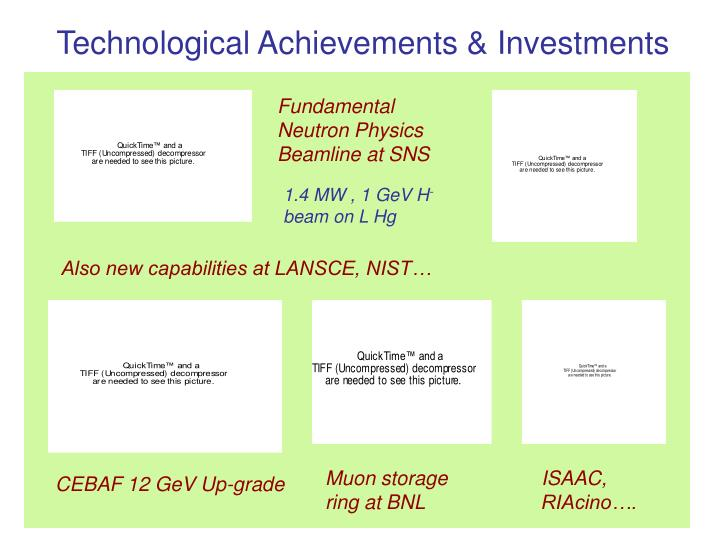 Technological Achievements & Investments