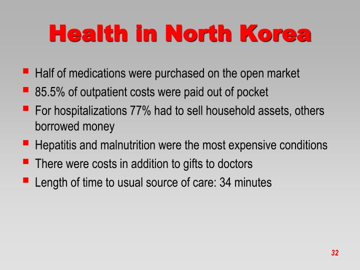Health in North Korea