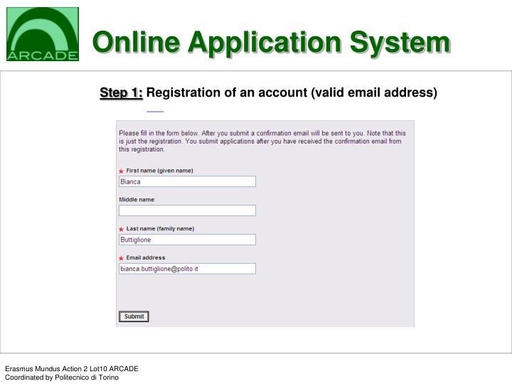Online Application System