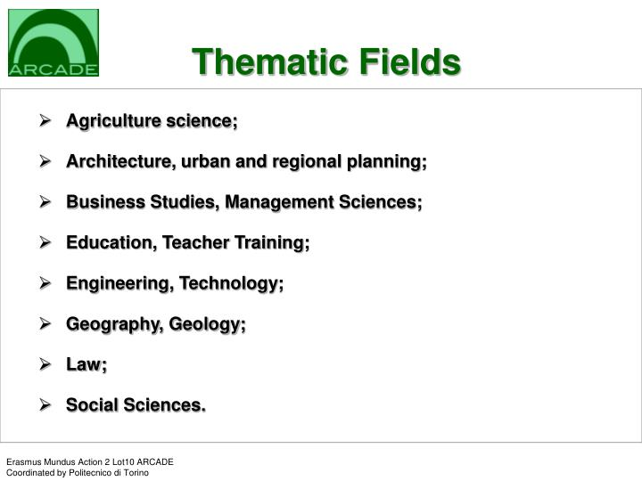 Thematic Fields