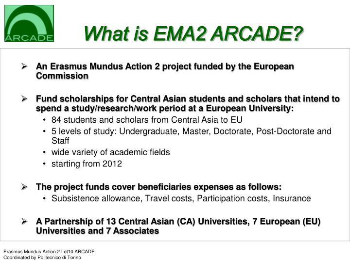 What is ema2 arcade