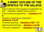 a brief outline of the epistle to the galatia1