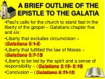 a brief outline of the epistle to the galatia2
