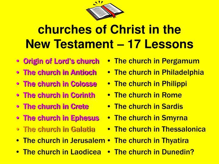 Origin of Lord's church