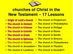 churches of christ in the new testament 17 lessons