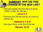 summary why did this change in the new law