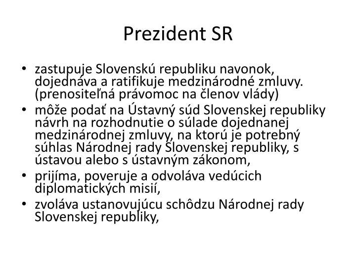 Prezident SR
