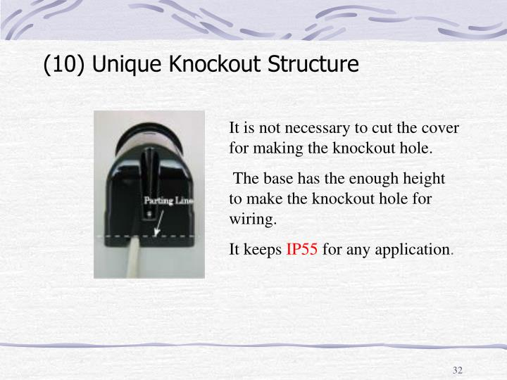 (10) Unique Knockout Structure