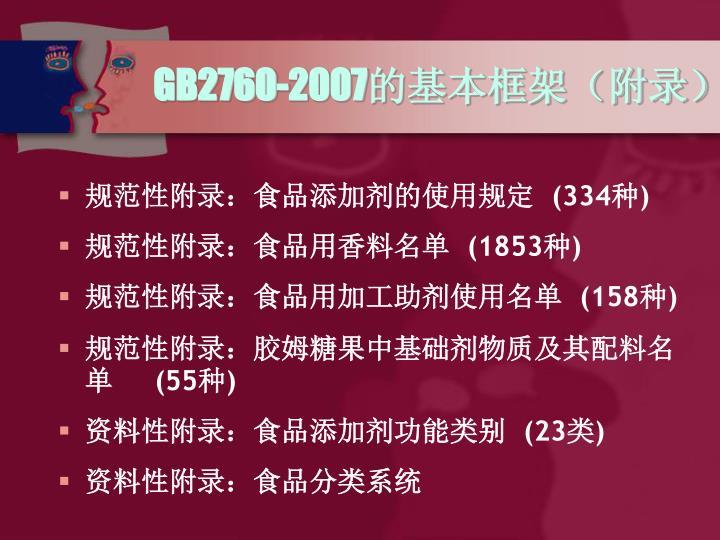 GB2760-2007