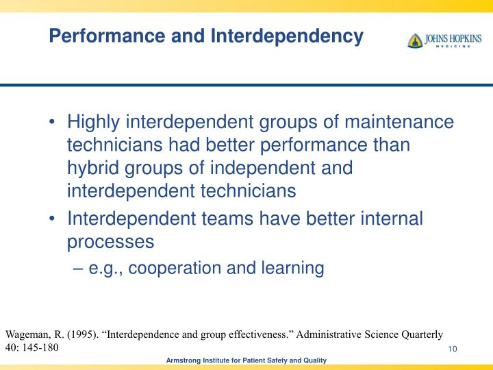 Performance and Interdependency