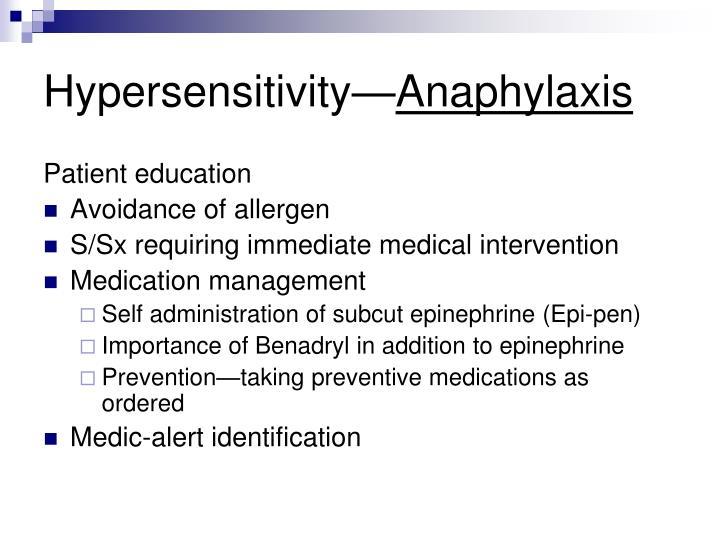 Hypersensitivity—