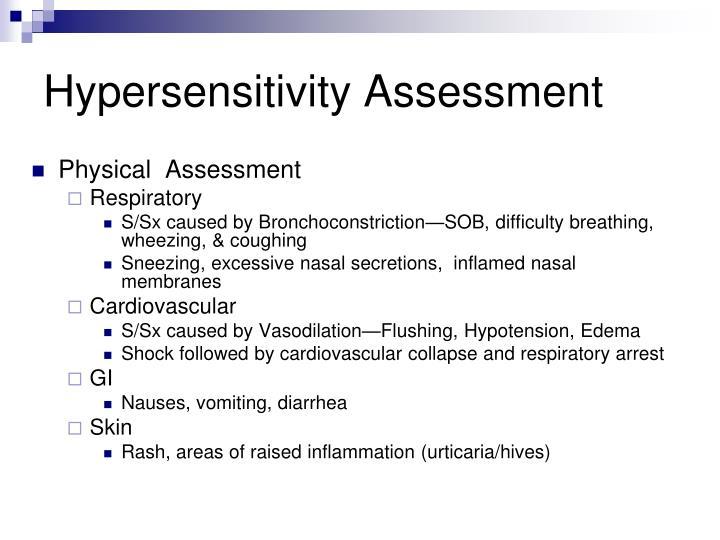 Hypersensitivity Assessment