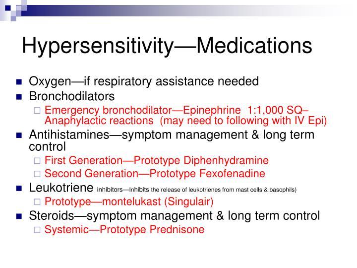 Hypersensitivity—Medications