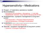 hypersensitivity medications
