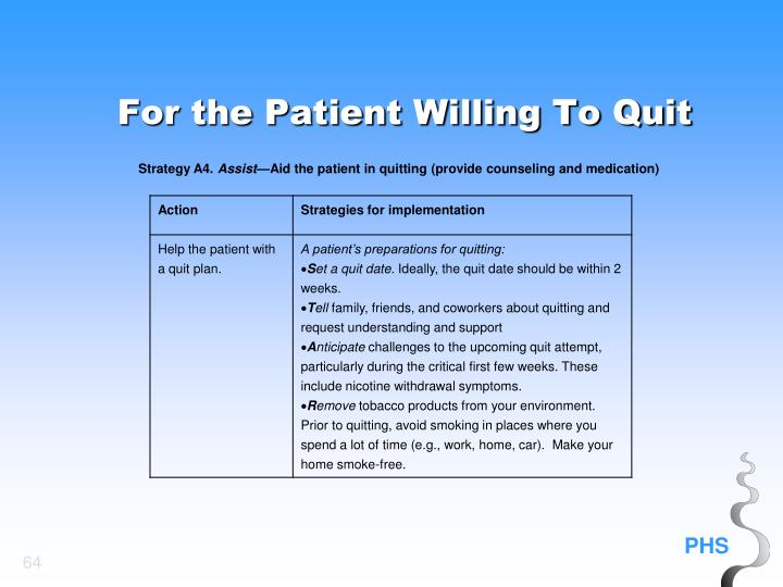 For the Patient Willing To Quit