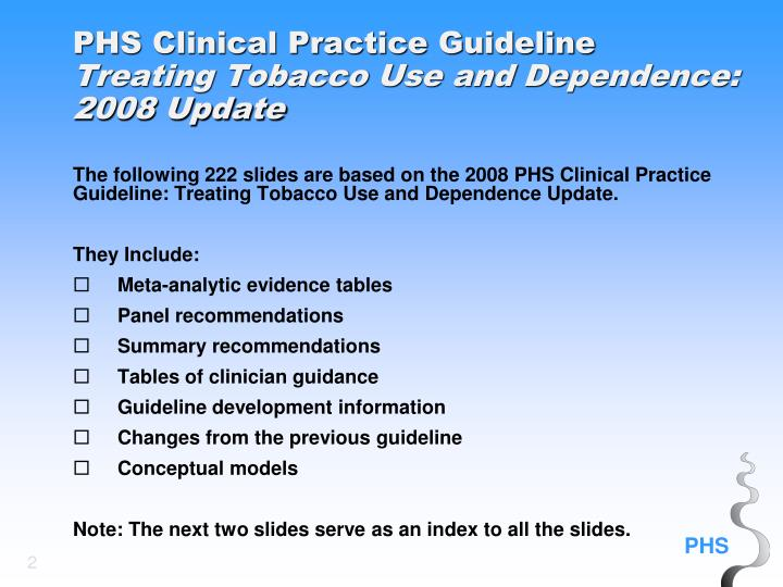 PHS Clinical Practice Guideline