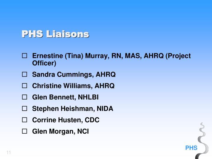Ernestine (Tina) Murray, RN, MAS, AHRQ (Project Officer)