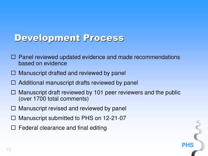 Panel reviewed updated evidence and made recommendations based on evidence
