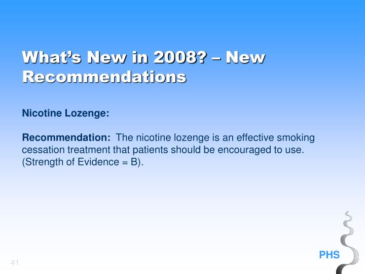 What's New in 2008? – New Recommendations