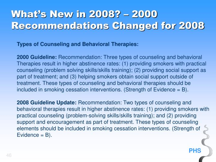Types of Counseling and Behavioral Therapies: