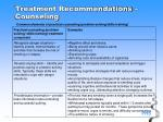 treatment recommendations counseling27
