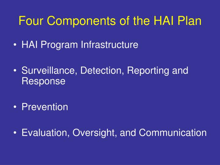 Four Components of the HAI Plan